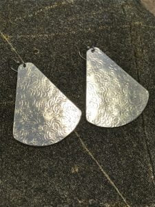 Large Raindrop Aluminum Fan Earrings